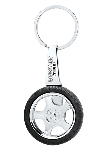 Discount Tire Spinning Keychain Image